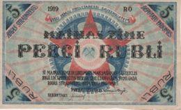 (B0594) LATVIA, 1919. 5 Rubli. P-R3. AUNC (AU) - Latvia