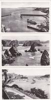 Port De Sauzon/baie De Goulphar BELLE-ILE-en-MER  Morbihan Lot De 3 Cartes Me2 - Belle Ile En Mer