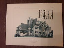 GROUP DE VILLAS  A WESTENDE  1908  ARCHITECT O. VAN RYSSELBERGHE Afmetingen 27 Cm Op 36 Cm - Architecture