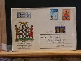 72/161    LETTRE RECOMM.   ZAMBIA - Zambia (1965-...)