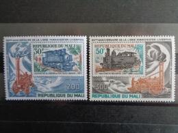 """MALI 1980 P.A. Y&T N° 379 & 380 **  - 150e ANNIV. DU CHEMIN DE FER """" LIVERPOOL-MANCHESTER """" - Mali (1959-...)"""