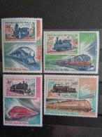 MALI 1980 P.A. Y&T N° 403 à 406 **  - CHEMIN DE FER, LOCOMOTIVES MODERNES - Mali (1959-...)