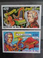 MALI 1981 P.A. Y&T N° 414 & 415 ** -  225e ANNIV. NAISSANCE DE MOZART - Mali (1959-...)