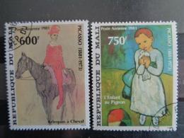 MALI 1981 P.A. Y&T N° 427 & 428  OB  - 100e ANNIV. DE LA NAISSANCE DE PABLO PICASSO - Mali (1959-...)