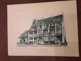 GROUP DE VILLAS  A WESTENDE  1908  ARCHITECT O. VAN RYSSELBERGHE Afmetingen 26 Cm Op 37 Cm - Architecture