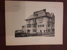 VILLA DES TERRASSES  A WESTENDE  1908  ARCHITECT O. VAN RYSSELBERGHE MET VOLLEDIG GRONDPLAN Afmetingen  27 Cm Op 36 Cm - Architecture