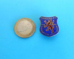 GLASGOW RANGERS FC ... Vintage Pre-WW2 Enamel Buttonhole Pin Badge SUPPORTERS ASSOCIATION Scottish Scotland England - Football
