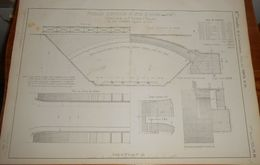 Plan D'un Passage Supérieur De 15 M De Rayon. Chemin De Fer De Saint Rambert à Grenoble. 1858 - Public Works