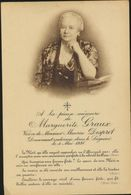 IMAGE MORTUAIRE * MARGUERITE GRAUX * NOBLESSE * VEUVE MAURICE DESPRET * + 1938 * PHOTO - Obituary Notices
