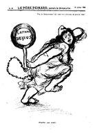 """Carte De PRESSE N° 30 L'Affaire Dreyfus Vue Par Un Dessinateur Anarchiste Anonyme - Dessin Paru Dans """" Le Père Peinard"""" - Cartes Postales"""
