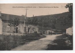 Cpa.01.Chavannes Sur Suran.1923.Usine électrique De Marise.animé Personnages - France
