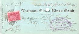 USA Check - National Black River Bank, No 8718 20.07.1899 - Assegni & Assegni Di Viaggio