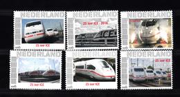 Train, Eisenbahn, Locomotive, Railway: :Nederland 2017  6 X,  25 Jaar ICE Persoonlijke Zegel - Trains