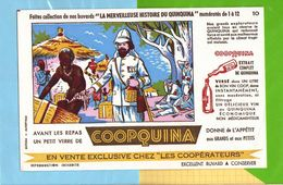 Buvard & Blotting Paper : Les Cooperateurs  COOPQUINA  N° 10 Nos Grands Explorateurs - Liquor & Beer