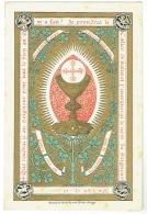 Image Religieuse. Souvenir De Communion. Gabrielle Verstraete. Bruges 1887. - Images Religieuses
