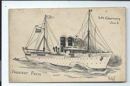 PAQUEBOT POSTE - Carte Ancienne - Vente Directe - Steamers