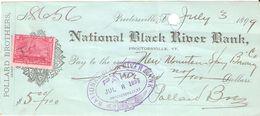 USA Check - National Black River Bank, No 8656 - 3.07.1899 - Assegni & Assegni Di Viaggio