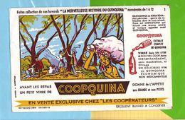 Buvard & Blotting Paper : Les Cooperateurs  COOPQUINA  N° 1 Kina Kina Mot Peruvien - Liquor & Beer