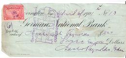 USA Check - German National Bank, No 13 - 06.04.1901 - Assegni & Assegni Di Viaggio