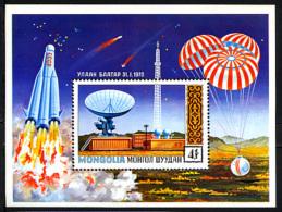 MONGOLIE 1971, RECHERCHES SPATIALES, 1 Bloc,  Neuf / Mint. R557 - Space