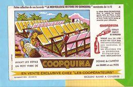 Buvard & Blotting Paper : Les Cooperateurs  COOPQUINA  N° 4 Culture Du Kina Kina A Ceylan Et Java - Liquor & Beer