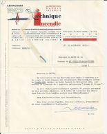 AMIENS TECHNIQUE INCENDIE R AIGUIER INSTALLATEUR D EXTINCTEURS ANNEE 1953 - France
