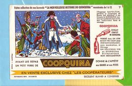 Buvard & Blotting Paper : Les Cooperateurs  COOPQUINA  N° 7 Napoleon Pendant La Campagne De Russie - Liqueur & Bière