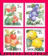 MOLDOVA 1998 Nature Flora Fruits Cherry Plum Apple Quince 4v Sc278-281 Mi278-281 MNH - Fruits