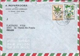 Letter St. Vincent,Cape Verde.Brief St.Vincent,Kap Verde.Ricinus Communis.Arachis Hypogaea.Ricino.Amendoim.Peanut Plant. - Cape Verde