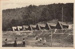 Brezova Pod Bradlom Slovakia, Summer Camp Scene Girls Play Volleyball, C1930s Vintage Real Photo Postcard - Slovakia