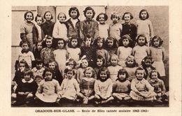 ORADOUR-SUR-GLANE ECOLE DE FILLES (ANNEE SCOLAIRE 1942 1943 ) - Oradour Sur Glane