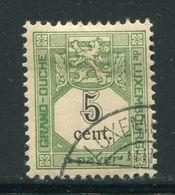 LUXEMBOURG- Taxe Y&T N°1- Oblitéré - Portomarken