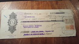 MANDAT A ORDRE ILLUSTRE DE  1925 ARÔMES ET PARFUMS LAUTIER FILS GRASSE TIMBRES QUITTANCE ET COMMERCE - Chemist's (drugstore) & Perfumery