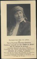 IMAGE MORTUAIRE * NOBLESSE * COMTESSE  LEOPOLD VAN DEN STEEN DE JEHAY * NEE VILLEGAS DE ST-PIERRE * + 1941 - Obituary Notices