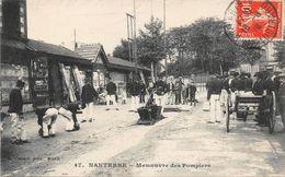 NANTERRE - Manoeuvre Des Pompiers - Nanterre