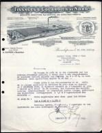 FACTURE OU LETTRE ANCIENNE DE BOESCHEPE- 1939 - TOILES ET SACS D'EMBALAGES BELLE ILLUSTRATION USINE- 2 SCANS- - Textile & Clothing