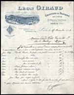 FACTURE OU LETTRE ANCIENNE DE PARIS- 1903-  CHIFFONS ET PAPIERS- BELLE ILLUSTRATION- USINE AVEC ANIMATION- 2 SCANS- - France