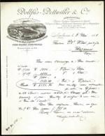 FACTURE OU LETTRE ANCIENNE DE MULHOUSE- 1888- FILATURE DE DRAPS- FEUTRES- TISSUS-  BELLE ILLUSTRATION- 2 SCANS- - Textile & Clothing