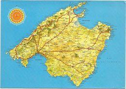 V1366 Maiorca - Carta Geografica Map Carte Geographique / Viaggiata 1987 - Carte Geografiche