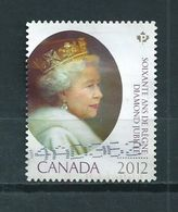 2012 Canada Diamond Jubilee Used/gebruikt/oblitere - 1952-.... Regering Van Elizabeth II