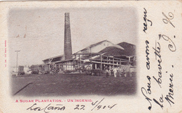 CPA CUBA A Sugar Plantation Un Ingenio Une Plantation De Sucre Une Usine - Ansichtskarten