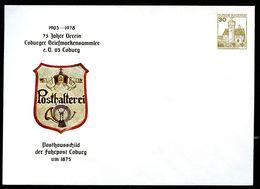 Bund PU108 C2/002 Privat-Umschlag POSTHAUSSCHILD COBURG 1875 ** 1978 - Post
