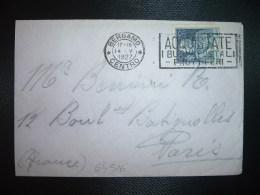 LETTRE TP 1,25 L OBL.MEC.14 V 1927 BERGAMO CENTRO - Marcophilia