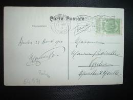 CP TP 5c OBL.MEC.22 VIII 10 ANVERS 1910 BRUXELLES EXPOSITION - 1910-1911 Caritas