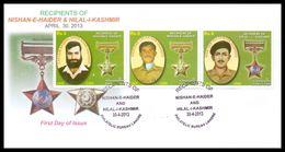 2013 Pakistan Recipients Of Nishan-e-Haider And Hilal-i-Kashmir Award FDC - Pakistan