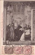 MELOZZO DA FORLI. SISTO IV DA UDIENZA ALLO STORICO PLATINA.-CIRCULEE TO S.ROSA DE CANELONES-TBE-BLEUP - Peintures & Tableaux