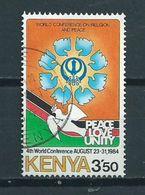 1984 Kenia Peace Love Unity Used/gebruikt/oblitere - Kenia (1963-...)
