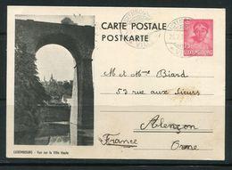 LUXEMBOURG- Carte Postale De 1933 Avec Entier Postal - Luxembourg