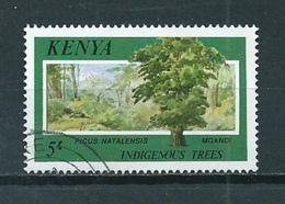 1986 Kenia 5' Trees,bomen Used/gebruikt/oblitere - Kenia (1963-...)