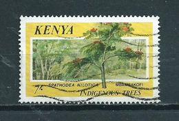 1986 Kenia 7' Trees,bomen Used/gebruikt/oblitere - Kenia (1963-...)